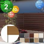 【欠品中6月発送】 目隠しフェンス オリジナルDIYフェンス Bウッドスタイル デコ ハーフタイプ 約2M(1スパン分) H1800mm×L1995mm用 組立て部材セット ウッド