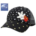 メッシュキャップ ミッキーマウス ディズニー Disney キッズ 子供 アイコンスター ブラック
