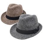 中折れハット 中折れ帽 メンズ レディース 秋冬 サイズ調節可能 ツイード