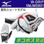 【ネコポス便発送】MIZUNO(ミズノ) W-GRIP -ダブルグリップ- メンズ ゴルフ グローブ (左手用)(指先ショートタイプ) 5MJMS801