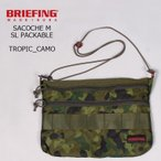 BRIEFING ブリーフィング  SACOCHE M SL PACKABLE - TROPIC CAMOUFLAGE サコッシュ