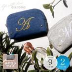 手拿包, 收納包 - ポーチ イニシャル 刺繍 かわいい 小物入れ 小さめ ファスナー アイコスケース