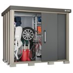 サンキン物置SK8S-100積雪地型 ギングロ3枚扉 棚板付 農具収納 収納庫 倉庫 DIY 送料無料 sk8シリーズ