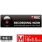 Exproud製 Recording Now スタイリッシュEM マグネットステッカー 18x5.5cm Mサイズ ドライブレコーダー搭載車両 あおり運転対策M- B07NMH9BVJ