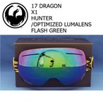 17 DRAGON X1 HUNTER GREEN /OPTIMIZED LUMALENS FLASH GREEN ジャパンフィット ゴーグル ドラゴン 16 - 17 2017