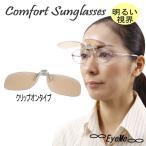 コンフォートサングラス AW-301NCS 明るいレンズの偏光機能付クリップオンサングラス。室内外兼用。紫外線・ブルーライトカット。白内障手術後、予防に最適。