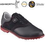 ASHWORTH(アシュワース)日本正規品Kingston Boa(キングストンBoa)ソフトスパイクゴルフシューズブラック/バーガンディ/ブラック「G54383」