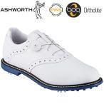 ASHWORTH(アシュワース)日本正規品Kingston Boa(キングストンBoa)ソフトスパイクゴルフシューズホワイト/ホワイト/クラシックブルー「G54386」