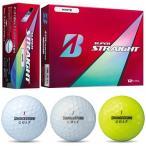 2017新製品ブリヂストン日本正規品SUPER STRAIGHT(スーパーストレート)ゴルフボール1ダース(12個入)