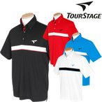 BRIDGESTONE TOURSTAGEブリヂストン ツアーステージ吸汗速乾半袖ボタンダウンポロシャツDTM02A「春夏ゴルフウエアs7」