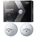 Callaway(キャロウェイ)日本正規品 CHROME SOFT X (クロムソフトエックス) 2020モデル ゴルフボール1ダース(12個入)