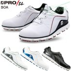 FOOTJOY(フットジョイ)日本正規品 PRO/SL Boa (プロ エスエル ボア) スパイクレスゴルフシューズ  ウィズ:W(EE)
