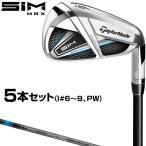 TaylorMade(テーラーメイド)日本正規品  SIM MAX(シムマックス)アイアン  2020モデル TENSEI BLUE TM60カーボンシャフト 5本セット(I#6〜9、PW)