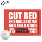 カット レッド ゴルフボール CUT GOLF RED 1ダース12P USAモデル