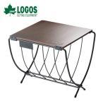 ロゴス LOGOS ワイド薪ラックウッドテーブル 81064183