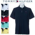 トミーヒルフィガー ロゴ フライ フロント 半袖ポロシャツ メンズ ゴルフウェア 春夏 THMA008