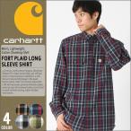 カーハート (carhartt) シャツ 長袖 メンズ チェックシャツ 長袖 ボタンダウンシャツ 大きいサイズ メンズ 長袖シャツ アメカジ シャツ