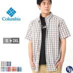 Columbia コロンビア シャツ メンズ チェック 半袖 ボタンダウンシャツ チェックシャツ 大きいサイズ (USAモデル)
