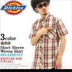 ディッキーズ/Dickies/ディッキーズ シャツ/シャツ メンズ 半袖/チェックシャツ メンズ/シャツ チェック/半袖シャツ メンズ/大きいサイズ