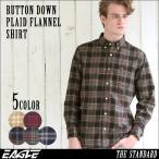 ネルシャツ メンズ 厚手 チェックシャツ フランネルシャツ メンズ チェック フランネル シャツ ボタンダウンシャツ カジュアルシャツ EAGLE THE STANDARD
