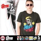 LIVE NATION (ライブネーション) tシャツ メンズ 半袖 プリント バンド tシャツ David Bowie (デヴィッド・ボウイ) ロックtシャツ バンドtシャツ