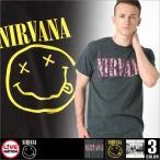 LIVE NATION (ライブネーション) tシャツ メンズ 半袖 プリント バンド tシャツ NIRVANA (ニルヴァーナ) ロックtシャツ バンドtシャツ