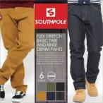SOUTH POLE サウスポール ジーンズ メンズ ストレート デニム メンズ デニムパンツ 大きいサイズ ジーンズ メンズ ブラック 大きいサイズ メンズ