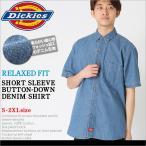 ディッキーズ (Dickies) ディッキーズ シャツ メンズ 半袖 デニムシャツ メンズ 半袖 大きいサイズ メンズ シャツ アメカジ メンズ シャツ