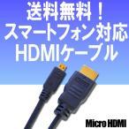 �ޥ�����HDMI�Ѵ������֥� MicroHDMI - HDMI 2m D-2