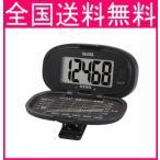 タニタ 歩数計 大型表示  PD647   ブラック