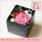 プリザーブドフラワー「BOX」入り プレゼント 花 誕生日 お祝い 記念日 赤ピンクカーネーション  枯れない花