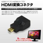 メール便送料無料 miniHDMI タイプC → microHDMI タイプD 変換 コネクタ スマートフォン スマホ モニター
