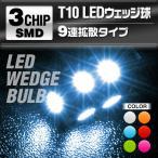 メール便送料無料 LED球 T10 T16 ウェッジ球 LEDバルブ 9連 SMD ルーム球 アンバー バック球 ポジション球 ウィンカー球 室内灯