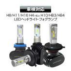LEDヘッドライト フォグランプ H4 車検対応 一体型 静音 ファンレス LED 4000ルーメン CSPチップ H4 Hi/Lo 4000Lm 12V コンパクト