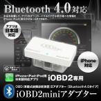 iOBD2 日本語 車両診断ツール Bluetooth ワイヤレス OBD2 iPhone iPad Android エラーコード消去 速度 回転数 燃費 電圧 定形外送料無料