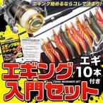 (5)エギング入門セット (ロッド/リール/エギ10個セット)