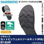 【取り寄せ商品】 シマノ ジオロック カットピンフェルトソールキット(KT-024F)(カラー:ダークグレー)(2016年モデル)
