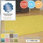 シャギーラグ - ジャスパー 200×200cm 大人気!プレーベルの洗えるシャギーラグ 8色から選べる 高級ナイロン糸使用