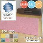 シャギーラグ - ジャスパー 200×250cm 大人気!プレーベルの洗えるシャギーラグ 8色から選べる 高級ナイロン糸使用