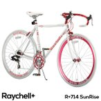 エントリーして最大45倍 ロードバイク  700c クロモリ シマノ14段変速 Raychell+ (レイチェル) R+714 SunRise