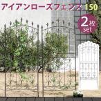 アイアンローズフェンス150 ロータイプ 2枚組 アイアンフェンス ガーデンフェンス ガーデニング 枠 柵 仕切り 目隠し トレリス