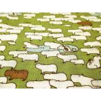1m単位 生地 布 綿 小林繊維 colony*(コロニー) ダブルガーゼ コットンこばやし カピバラ(草色) KTS-6145-C-YST