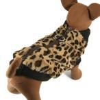 犬服のベスト{S} - チーター ファー ベスト2 |ブラウン|