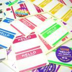 【7色70枚セット】FADEBOMB 7Color ''HELLO my name is'' Name Badge Label 名札ラベルシール