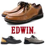 革靴 ビジネス スニーカー モカシンシューズ  カジュアル レザー メンズ エドウィン EDWIN 本革 紳士 チロリアン EDM705 送料無料