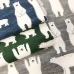 ネル起毛プリント 生地 ロンドンの寝ぐせパンダ 綿100% 布 手芸