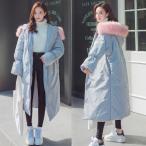 ダウンコート ファーコート 綿入れコート レディース ロングコート冬 大きサイズ ロング コート アウター かわいい ピンクファージャケット