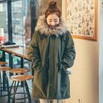 モッズコート アウター レディース 冬着 コート 韓国 大きいサイズ フェイクファーコート 裏ボア モッズコート 暖い ロング
