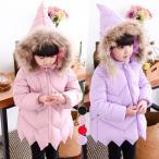 秋冬綿入れコート フード付き 保温 子供服 子供コート