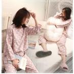 パジャマ  秋 冬 長袖  パジャマ女  綿100%  可愛い  ドット  パジャマ 女性 オシャレ 可愛い 部屋着 女性パジャマ